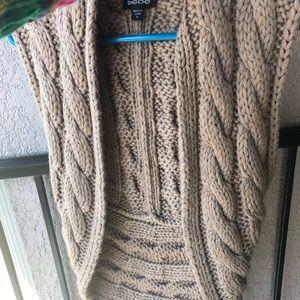 Bebe large cable knit vest